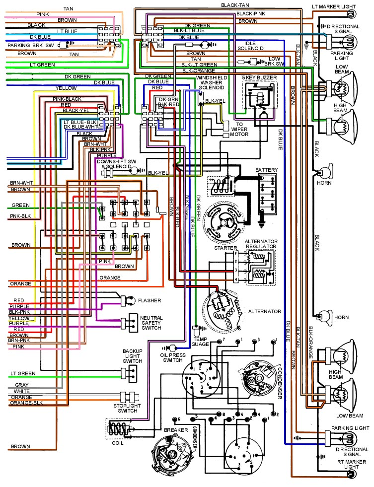 69wireFrontHalf pdf] pontiac gto wiring diagram (28 pages) pontiac firebird fuse 72 lemans wiring diagram at readyjetset.co